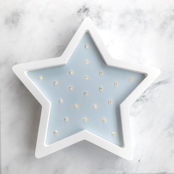 LED-Nachtlampe Stern hellblau