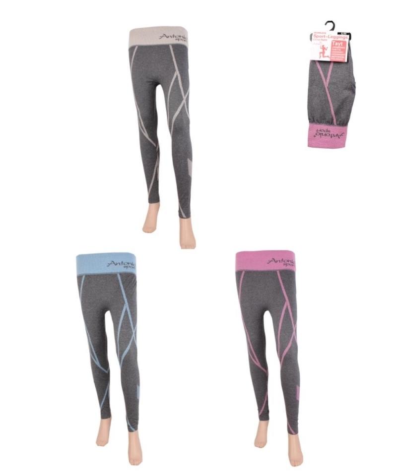 Frauen Sport Leggings mit Strickmuster