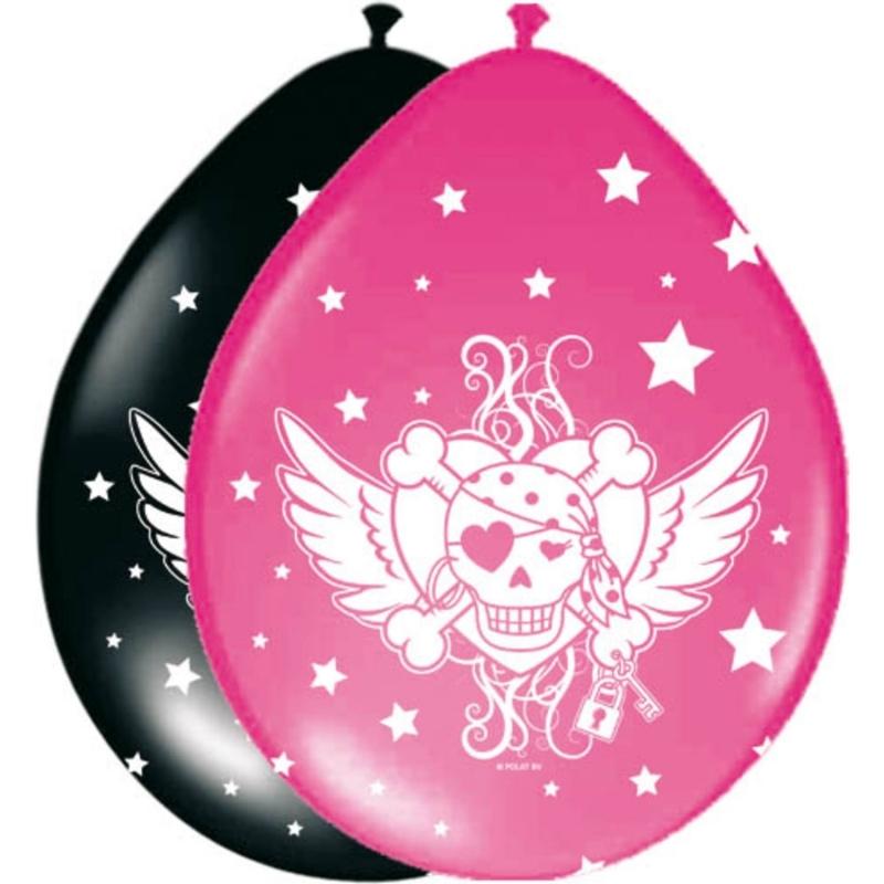 Pinkes Piratenmädchen Ballons