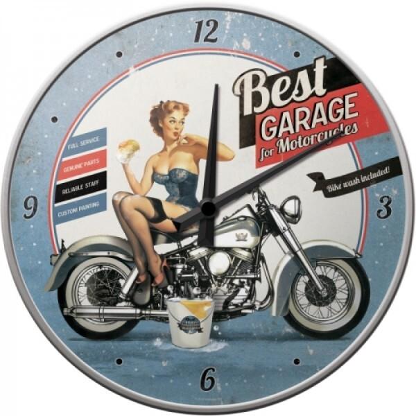 Wanduhr Best Garage - Blue