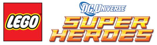 Lego logo dc universe Super heros